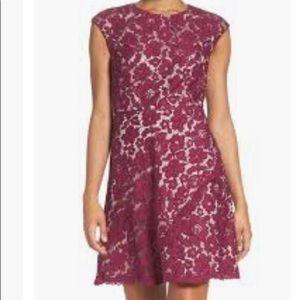 Vince Camuto lace cap sleeve a line dress